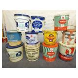 VARIOUS 1-2 GALLON LARD TINS