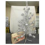 4FT ALUMINIUM CHRISTMAS TREE WITH BOX