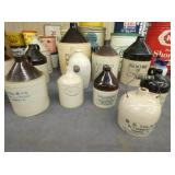 COLLECTION SIGNED STONEWARE POTTERY