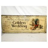 21/53IN RARE GOLDEN WEDDING WHISKY SIGN
