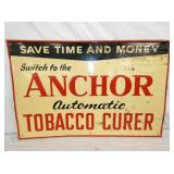 23/35 EMBOSSED ANCHOR TOBACCO CURING SIGN