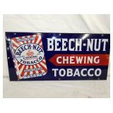11/22IN PORCELIAN BEECH NUT TOBACCO SIGN