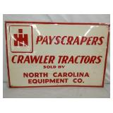 16/24 EMBOSSED CRAWLER TRACTORS SIGN