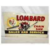 15/27 LOMBARD CHAIN SAW SIGN