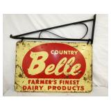 24/36 BELLE FARMERS DAIRY BRACKET SIGN