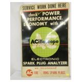 VIEW 3 OTHER SIDE AC SPARK PLUG SIGN