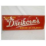 19/54 EMBOSSED DREIKORNS BREAD SIGN