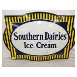 20/28 PORCELAIN SOUTHERN DAIRIES ICE CREAM SIGN