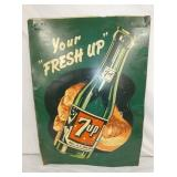 20/28 FRESHEN UP 7UP SIGN