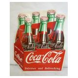RARE 12X12IN 1954 DIE CUT COKE BOTTLE SIGN