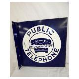 16IN PORCELIAN PUBLIC TELEPHONE FLENGE