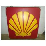 62IN EMBOSSED PLASTIC SHELL SIGN