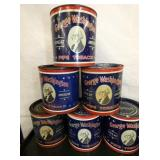 GEORGE WASHINGTON TOBACCO TINS WINSTON SALEM NC