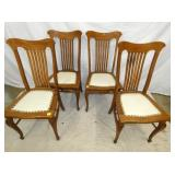 4 MATCHING OAK CHAIRS