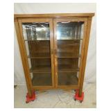 OAK 2 DOOR CHINA CLOSET