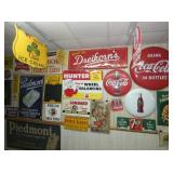 COCA COLA BUTTONS,7UP SIGN & OTHERS