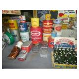 GROUP PICTURE LARD TINS, TOYS, OTHERS