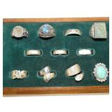 GROUP PICTURE STERLING RINGS