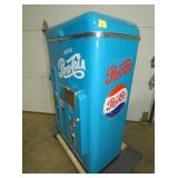 VIEW 2 SIDE VIEW LIFT TOP PEPSI BOX COOLER