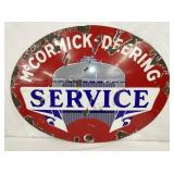 24X32 PORC. MCCORMICK DEERING SERVICE SIGN