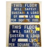 7X10 LOAD SAFETY SIGNS