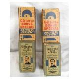 NOS GILLETTE RAZOR BLADES IN BOXES