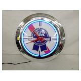 PABST BLUE RIBBON NEON CLOCK