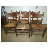 EARLY NC WALNUT MULE BACK CHAIRS