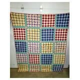 SUPER CLEAN EARLY HANDMADE QUILT