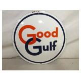 10IN. PORC. GOOD GULF PUMP SIGN