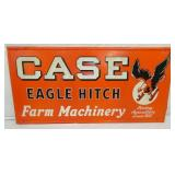 RARE 36X72 EMB. CASE EAGLE HITCH SIGN