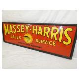 VIEW 3 RIGHTSIDE EMB. MASSEY HARRIS DEALER SIGN