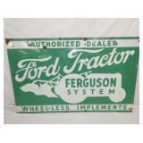 40X64 PORC. FORD TRACTOR FERGUSON SIGN