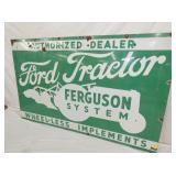 VIEW 2 CLOSEUP PORC. FORD TRACTOR SIGN