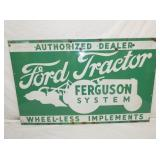 VIEW 3 OTHERSIDE 40X64 PORC. FERGUSON TRACTOR SIGN