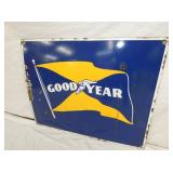 VIEW 2 CLOSEUP PORC. GOODYEAR FLAG SIGN