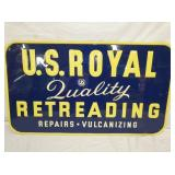 31X54 1959 NOS EMB. US ROYAL SIGN