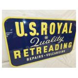 VIEW 2 CLOSEUP NOS US ROYAL RETREADING SIGN