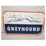 VIEW 2 OTHERSIDE PORC. GREYHOUND SIGN