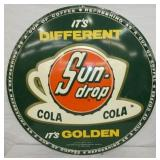 RARE 29IN EMB. SUNDROP GOLDEN COLA SIGN