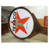 6FT. PORC. TEXACO SIGN W/ ORIG. POLE