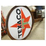 VIEW 2 6FT. PORC. TEXACO SIGN PART