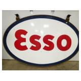 5FT.X7FT. PORC. ESSO SIGN W/ RING