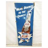 18X48 RARE PORC. DOUBLE DOT PEPSI SIGN