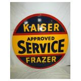 5FT. PORC. KAISER FRAZER SERVICE SIGN