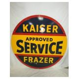 VIEW 2 OTHERSIDE PORC. KAISER FRAZER SERVICE SIGN