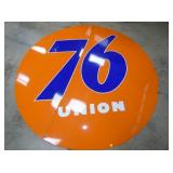 RARE 8FT. PORC. 2PC. UNION 76 SIGN