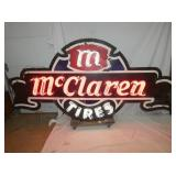 4 1/2FT. X 8FT. MCCLAREN TIRES NEON CAN SIGN
