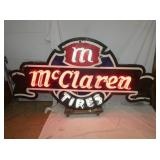 VIEW 2 UNUSUAL MCCLAREN TIRES NEON CAN SIGN