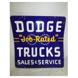 42X43 DODGE TRUCKS SALES & SERVICE PORC. SIGN
